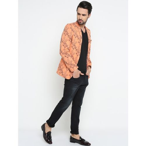 SHOWOFF orange cotton casual blazer