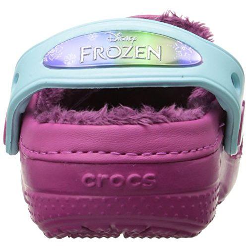 crocs Girl's CC Frozen Lined Berry Clogs-12.5 Kids UK (C12C13) (201408)