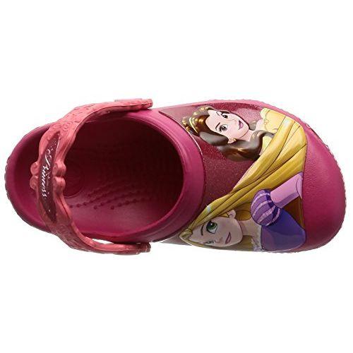 crocs Girl's CC Dream Big Princess Raspberry Clogs and Mules - C6C7
