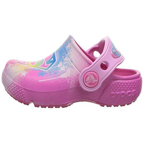 crocs Girls' Crocsfunlab Supergirl Clog, Candy Pink, 13 M US Little Kid