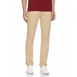 John Players Men's Chino Casual Trousers (JCMWTRA18001500_Yellow Cream_38W x 33L)