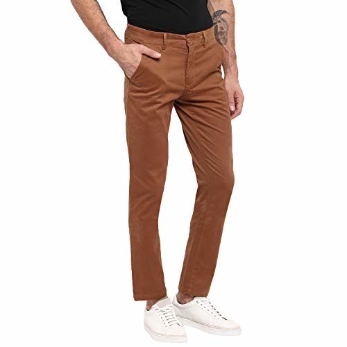 Red Chief Rust Trouser for Men (T8560135 022)
