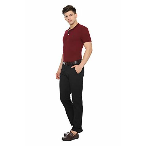 Allen Solly Men's Chino Casual Trousers (ASTFWSRFR47166_Black_36)