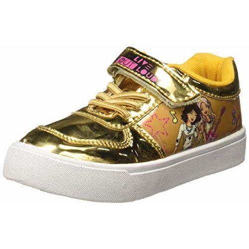 Barbie Girl's Mirror Gold Sports Shoes-13 Kids UK/India (32 EU) (BBPGSP0018)
