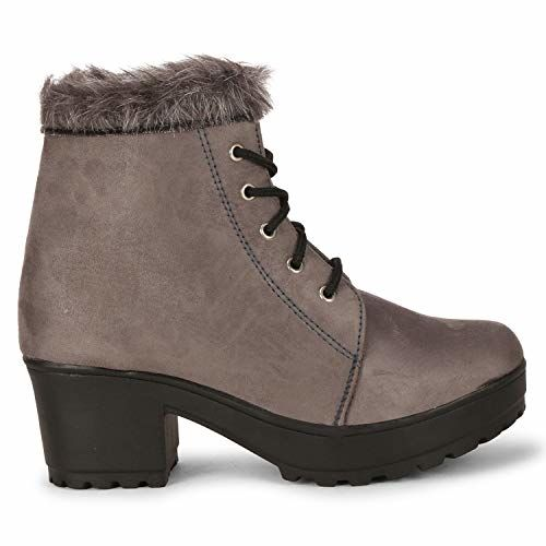 commander shoes Girls Boots (Grey, Numeric_8)