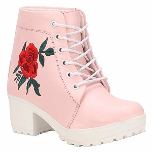 Commander Girl's Pink Boots- 5 Kids UK (36 EU) (805J)