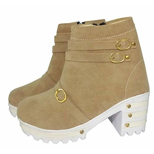 Thari Choice Girl's Beige Hi Heel Shoes (8 Years)