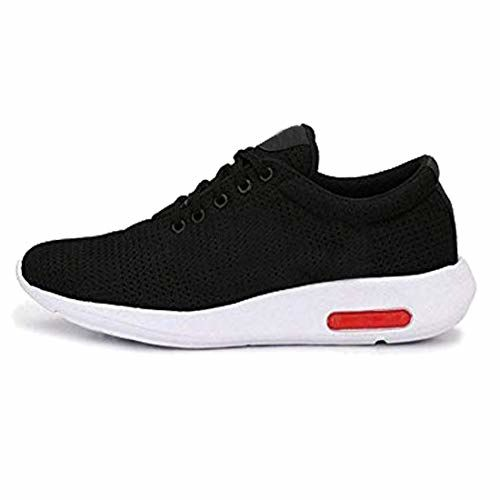 TYING Black PVC Light Weight Lace Up Sports Shoes