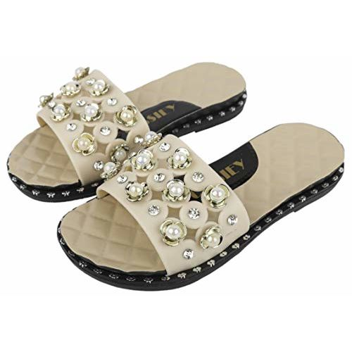 Irsoe Latest Collection Flip Flop/Slides/Slippers/Sliders for Kids & Girls- Cream