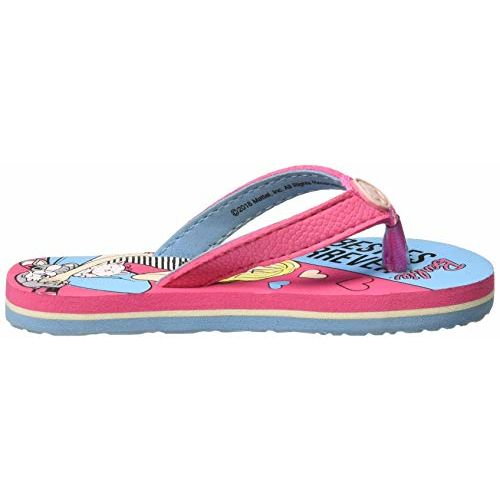 Barbie Girl's Sky Blue Flip-Flops- 6 Kids UK/India (23 EU) (BBPGFF1202)