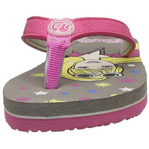 Barbie Girl's Grey Flip-Flops- 6 Kids UK/India (23 EU) (BBPGFF1371)