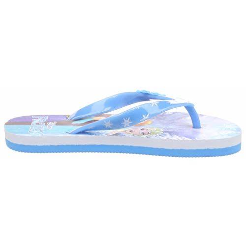 Frozen Girl's Flip-Flops-6 UK (23 EU) (7 Kids US) (FZPGFF2132_Blue)