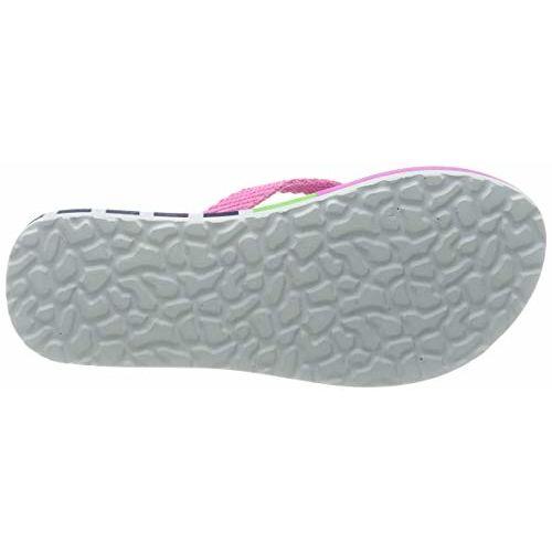 United Colors of Benetton Girl's Lime/Pink Flip-Flops-10 Kids UK (29 EU) (17A8CFFPG140I)