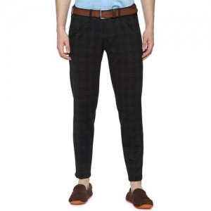 ALLEN SOLLY Checked Slim Fit Flat-Front Chinos