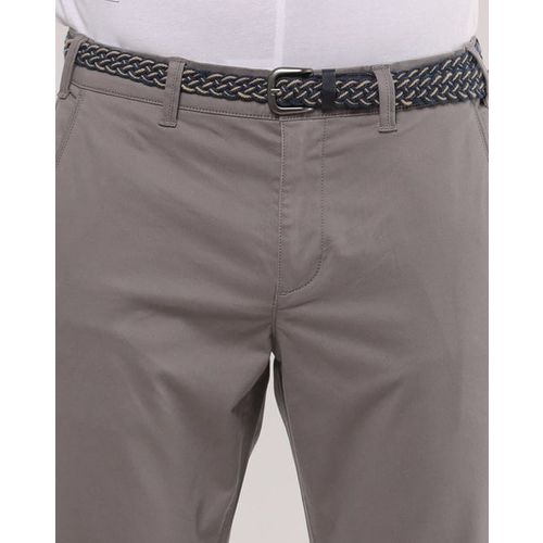 NETPLAY Flat-Front Cropped Chinos with Belt
