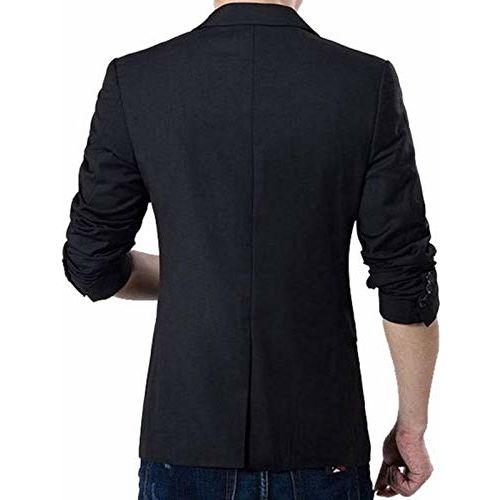 Oshano Solid Tuxedo Blazer for Men Casual Slim Fit Jacket