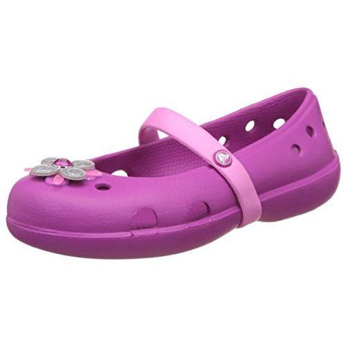 crocs Girl's Keeley Springtime PS Amethyst Espadrille Flats - C8