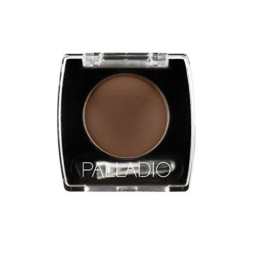 Palladio Brow Powder for Eyebrows, Dark Brown, Soft and Natural Eyebrow Powder with Jojoba Oil &...