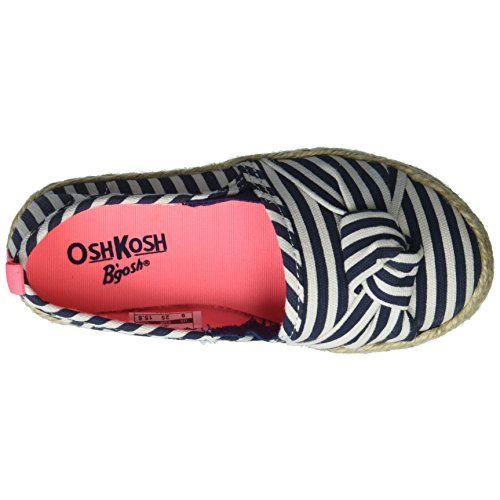 OshKosh B'Gosh Belle Girl's Beachy Espadrille Flat Loafer, Navy, 8 M US Toddler