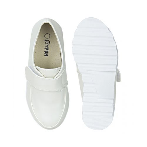 Joy n Fun Synthetic Leather White Coloured Casual Shoes