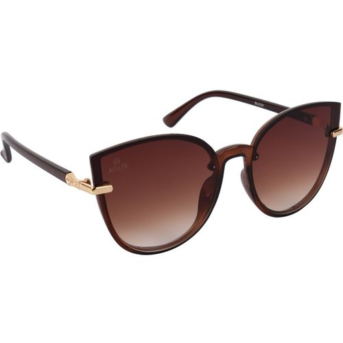 Aislin Cat-eye, Round Sunglasses(Brown)