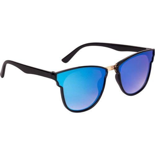 Voyage Cat-eye Sunglasses(Blue, Black)