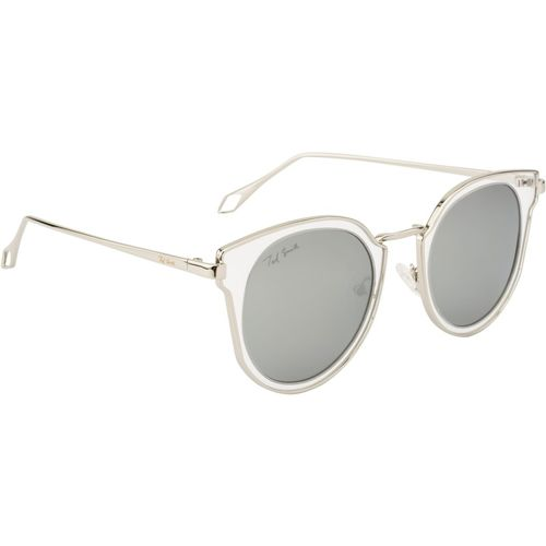 Ted Smith Cat-eye Sunglasses(Grey, Silver)