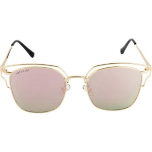 Voyage Cat-eye Sunglasses(Golden)
