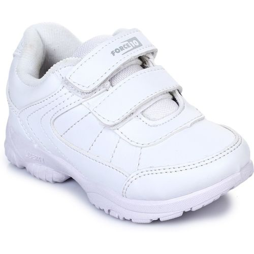 Force 10 By Liberty Boys Velcro Running Shoes(White)