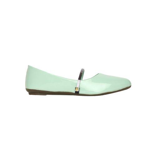 Estatos green slip on ballerinas
