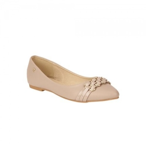 Addons beige slip on ballerinas