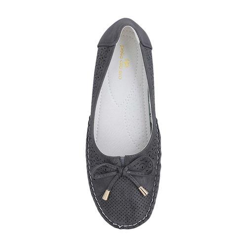 Pelle Albero grey slip on ballerinas