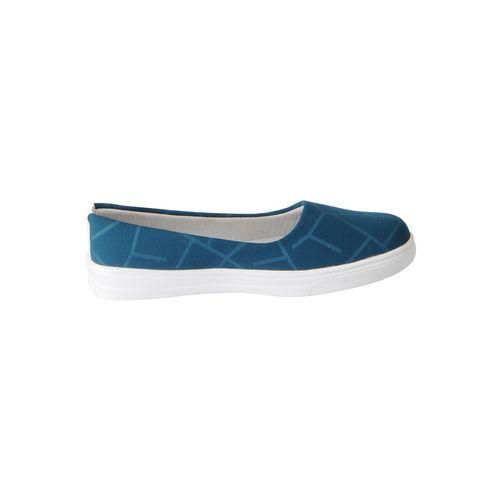 FAUSTO blue synthetic slip on ballerina