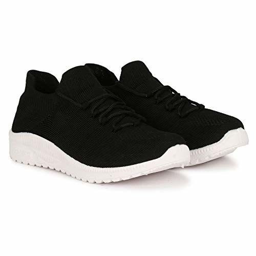 FASHIMO Black Running Walking Sports and Gym Shoes