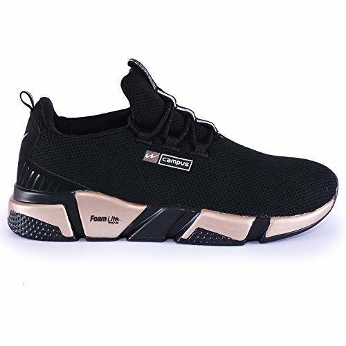 Campus Alexa Black Running Sport Shoes (5G-663)