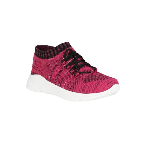 NE Shoes pink lace-up sports shoes