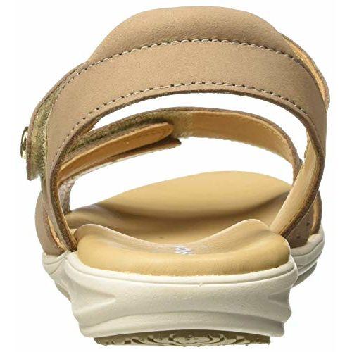 Hush Puppies Women's Bella_Sandal Beige Leather Fashion 6 (5648983)