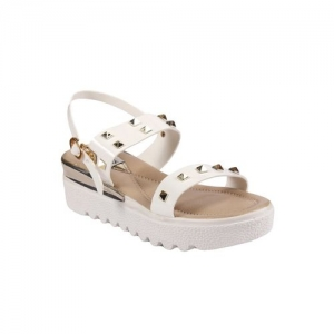 Anand Archies white plat forms sandal