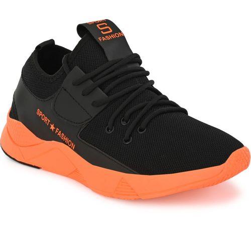 LAYASA Boys Lace Running Shoes(Black)