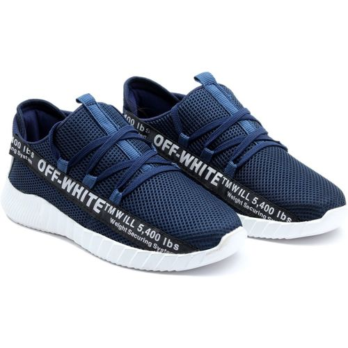 Easy Valk Boys Lace Running Shoes(Blue)