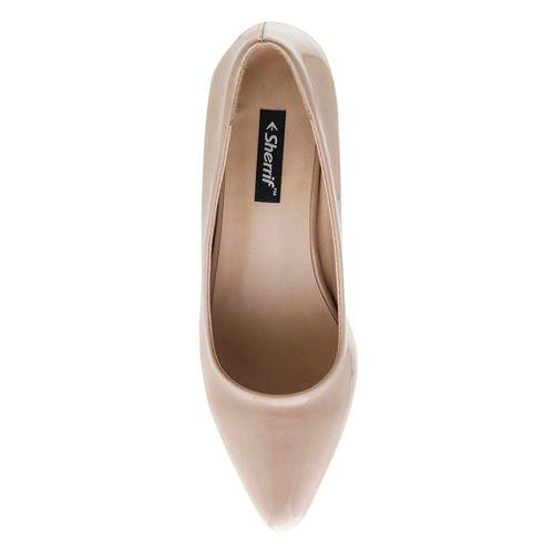 Sherrif Shoes beige slip on pumps