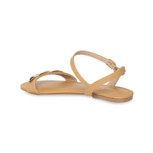 Addons Light Tan Ankle Strap Sandals