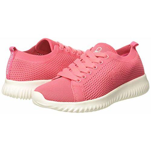 United Colors of Benetton Women's Pink Sneakers- 4 UK(37 EU) (19P8SNEA2127I_903)