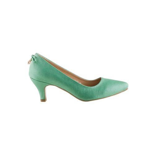 Sherrif Shoes green slip on pumps