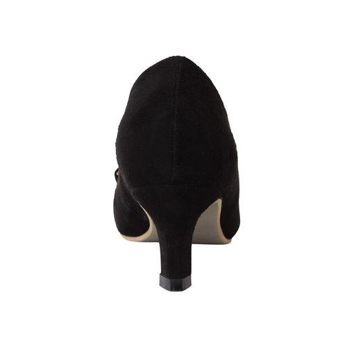 Pelle Albero black slip on pump