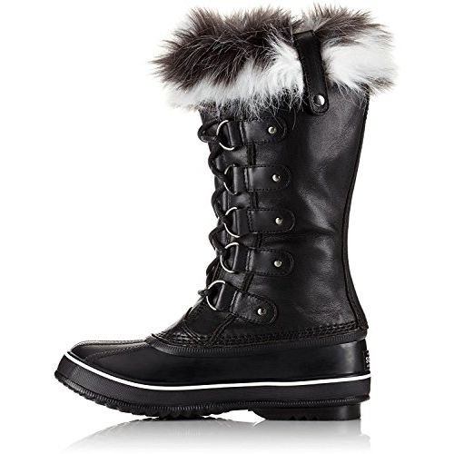 SOREL - Women's Joan of Arctic Lux Shell Boot, Size: 11 B(M) US, Color: Black/Sea Salt