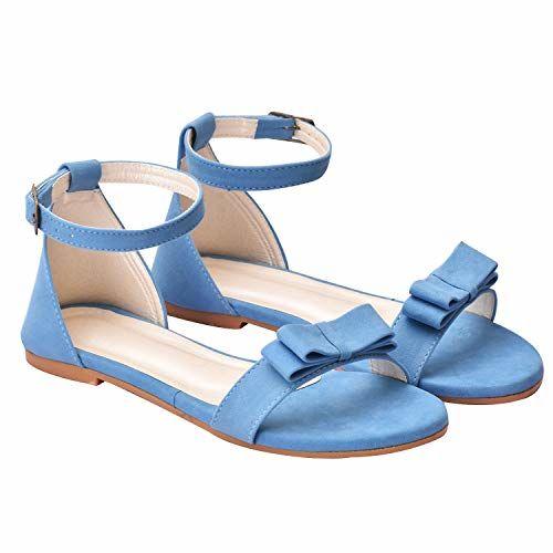 Raien Fashion Blue Aqua Synthetic Fashion Sandals (Euro 36/Ind 3)