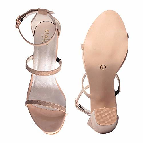 Klaur Melbourne Cream 3.5 Inchs Block Heel Sandal