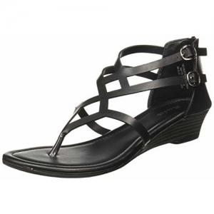 BATA Lozze (6616054) Black Synthetic Wedges Sandals