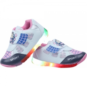 LNG Lifestyle Pink Boys & Girls Velcro Running Shoes